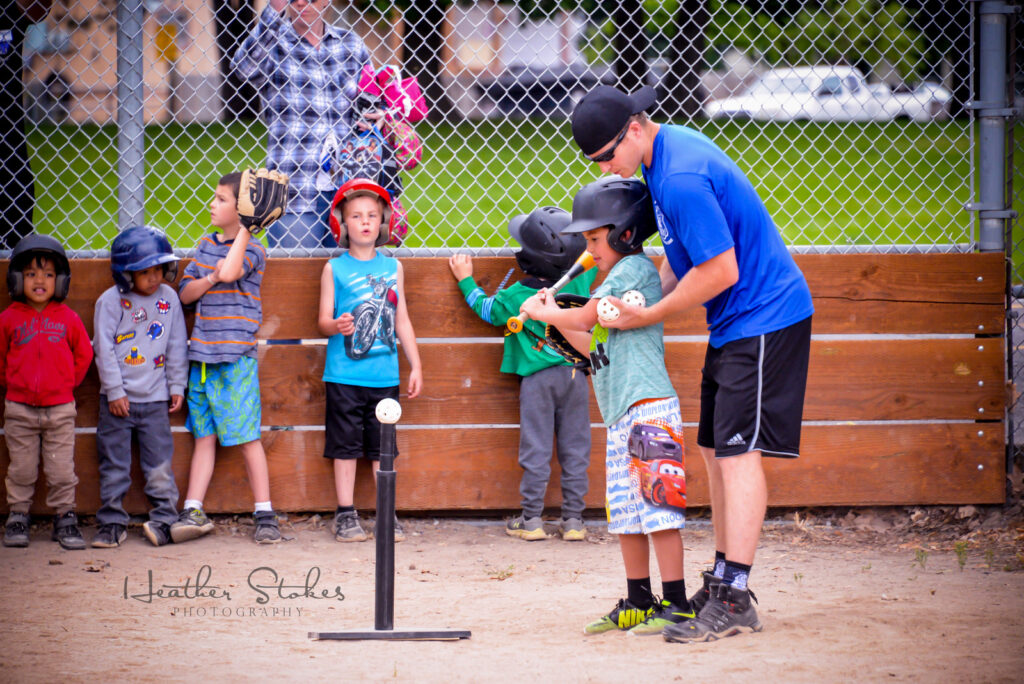 Baseball action photo coaching